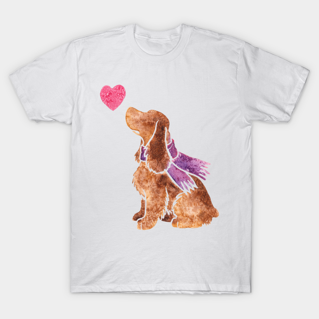 Cocker Spaniel Gifts I Love My Cocker Spaniel T-Shirt Soft Comfortable Polyester Breathable Unisex and Women/'s Cut Moisture-Wicking