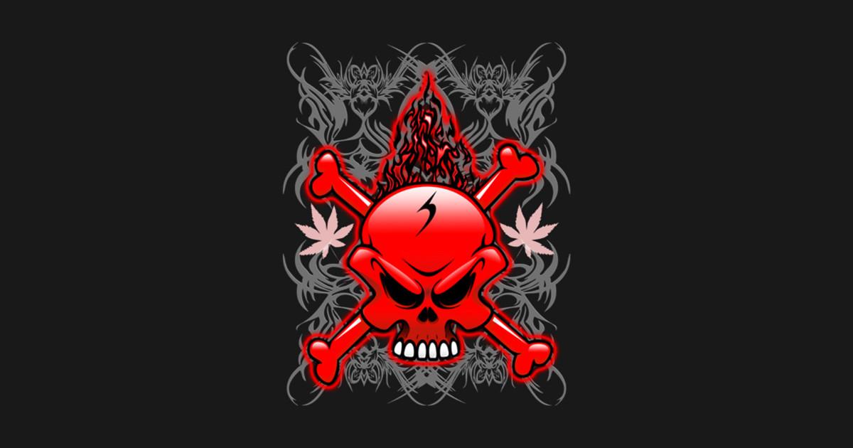 Red Fire Skull With Tribal Tattoos Skull Kids T Shirt Teepublic