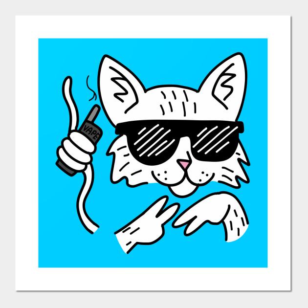 Vape Cat Color Vape Posters And Art Prints Teepublic Au
