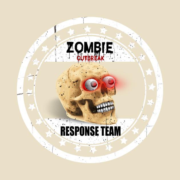 Halloween zombie outbreak response team zombie response team t shirt teepublic