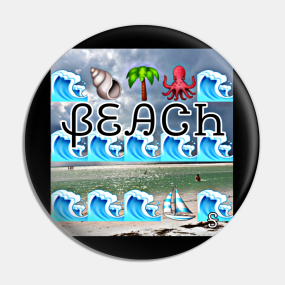 Love Beach Pins and Buttons | TeePublic