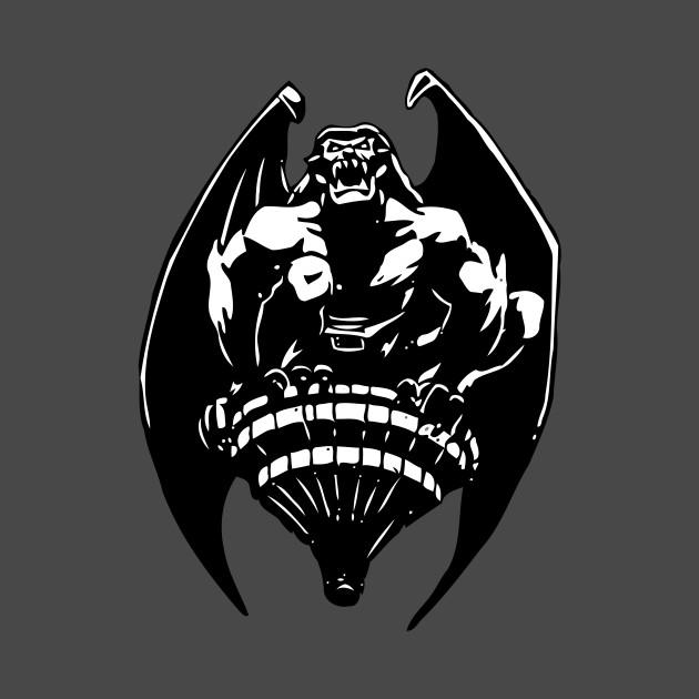 Gargoyles Goliath - Black and White