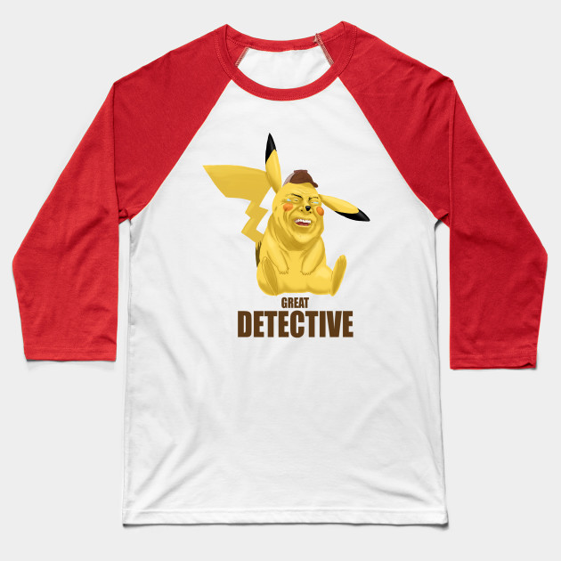 8b798968 Detective Pikachu - Pikachu - Baseball T-Shirt | TeePublic
