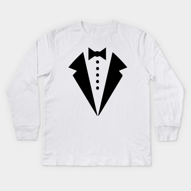 1454d5864 P&B Tuxedo White Funny Youth T-Shirt - Tuxedo - Kids Long Sleeve T ...