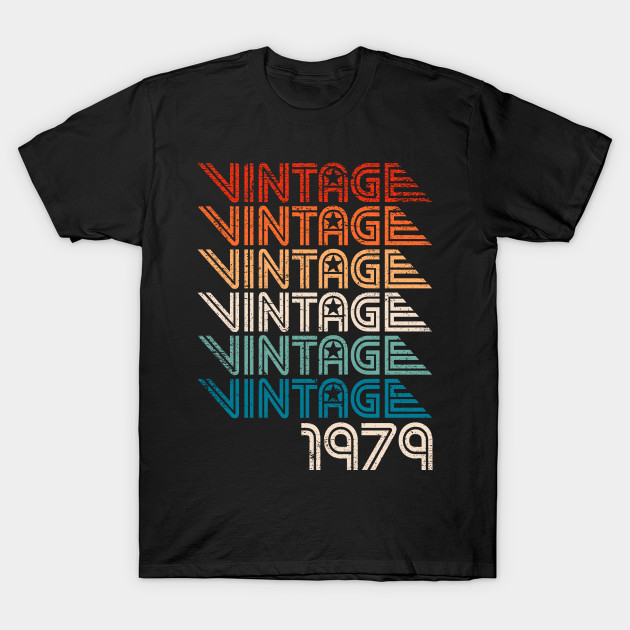 40th Birthday Gift 40 Years Old With Retro Vintage Graphic T Shirt