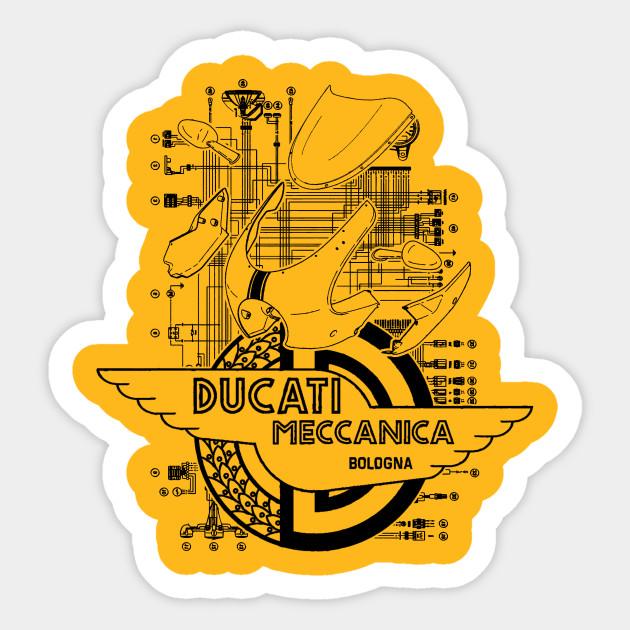 ducati sportclassic sport 1000s - black design sticker