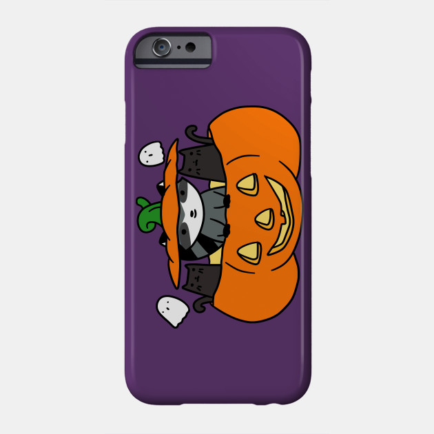 Halloween Black Cats and Raccoon Phone Case