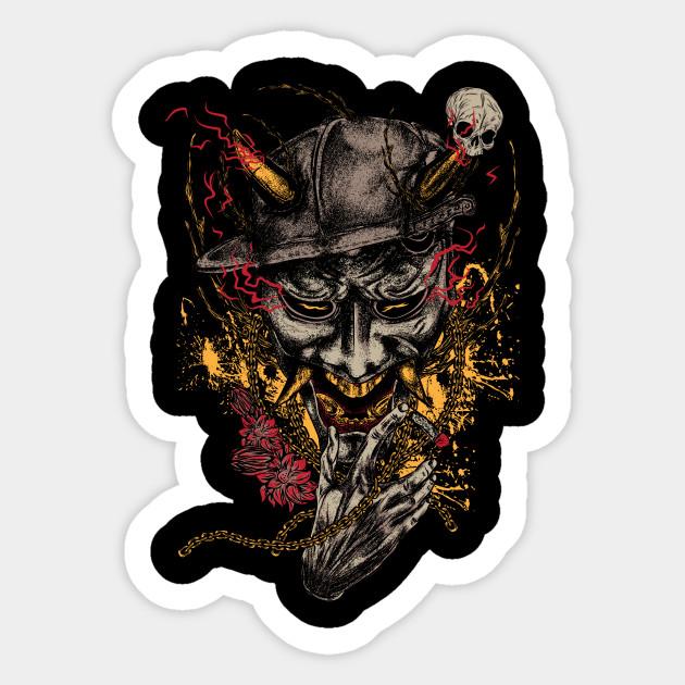 Hannya Mask - Hannya - Sticker | TeePublic