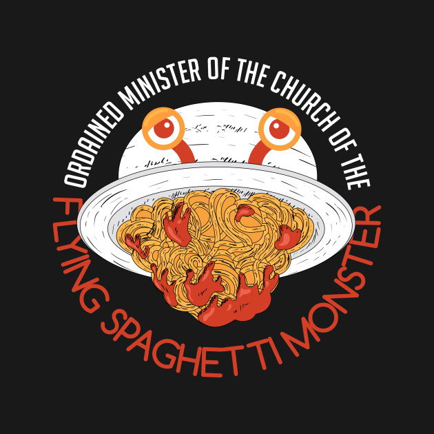 af145f85 Funny Spaghetti - Ordained Minister -Monster Hum - Humor - T-Shirt ...