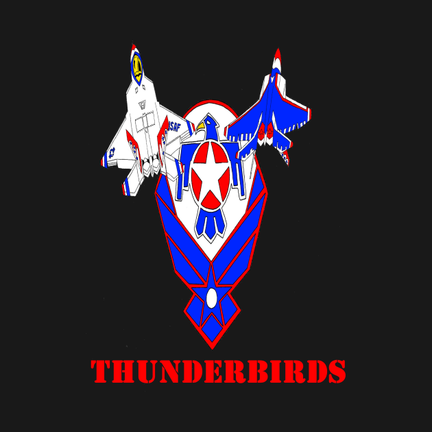 USAF Thunderbirds F22 Raptors
