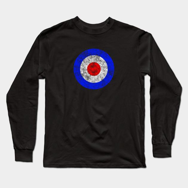 54b8a1b17 British Air Force Roundel Bullseye Emoji - Bullseye - Long Sleeve T ...