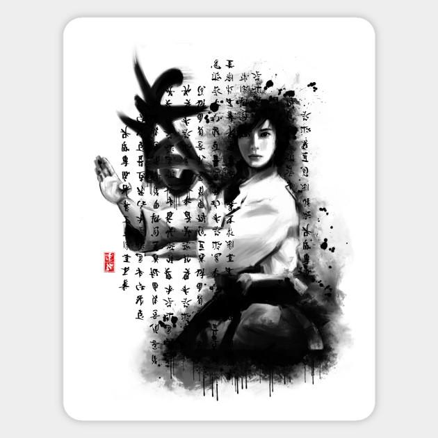 Kata Karate Girl Sticker Teepublic