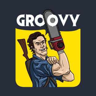 Evil Dead - We Can Do It Groovy t-shirts