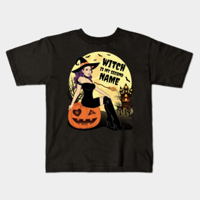 13f2f80a4 Main Tag Witch Kids T-Shirts. Description. Funny Witch Halloween T-Shirt ...