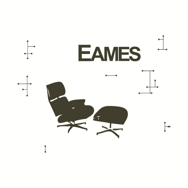 Sensational Eames Lounge Chair And Deco Wall Pattern Machost Co Dining Chair Design Ideas Machostcouk