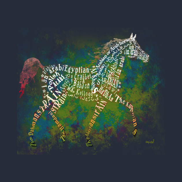 Arabian Horse in Typography