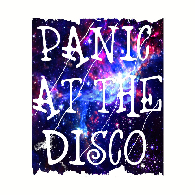 Panic at the Disco Galaxy Background Tshirt