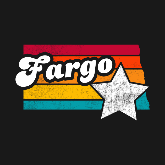 Fargo North Dakota Vintage Distressed Souvenir