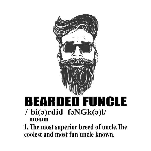 4fd131e3 Mens Bearded Funcle Funny Uncle Definition T Shirt - Beard Man - T ...