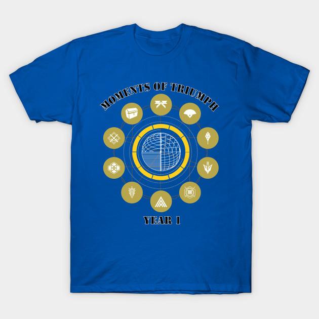 moments of triumph year 1 - bungie - t-shirt | teepublic