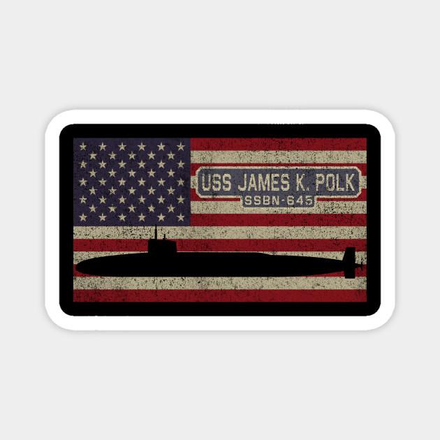 Polk SSBN-645 Submarine T-Shirt US Navy USS James K