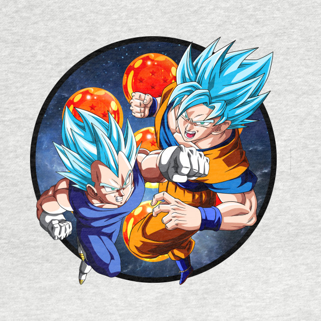 Dragon Ball Z - Vegeta & Goku SSJ God III