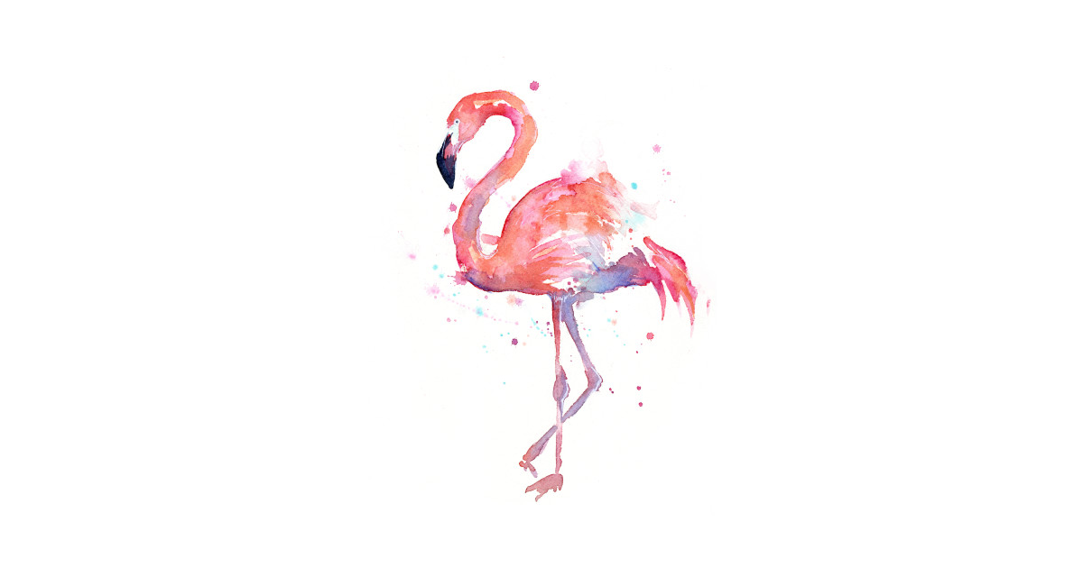 flamingo watercolor flamingo t shirt teepublic. Black Bedroom Furniture Sets. Home Design Ideas