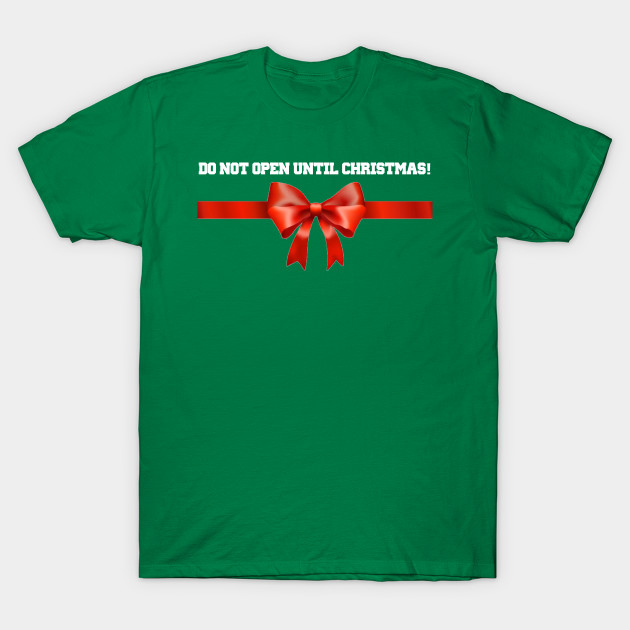 Maternity Christmas Shirt.Do Not Open Until Christmas Maternity Shirt Pregnancy Design