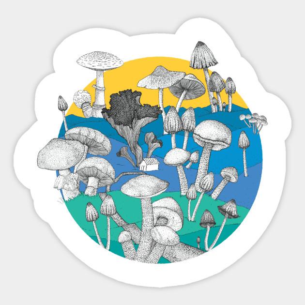 Mushroom kingdom sticker
