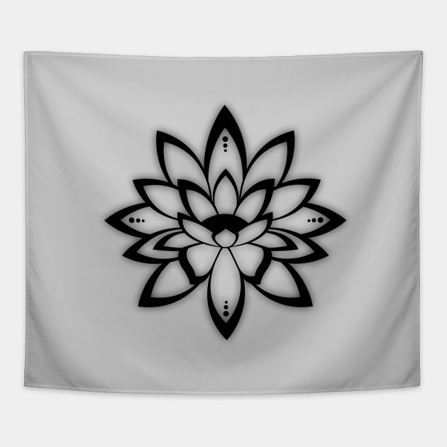 Lotus Flower Symbol Hinduism Tapestry Teepublic