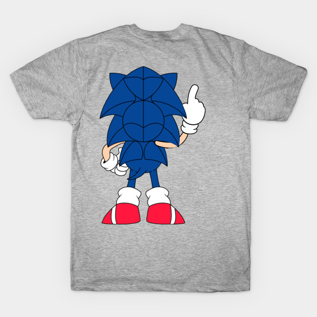 Sonic The Hedgehog Front And Back View Sonic The Hedgehog Classic Days T Shirt Teepublic De