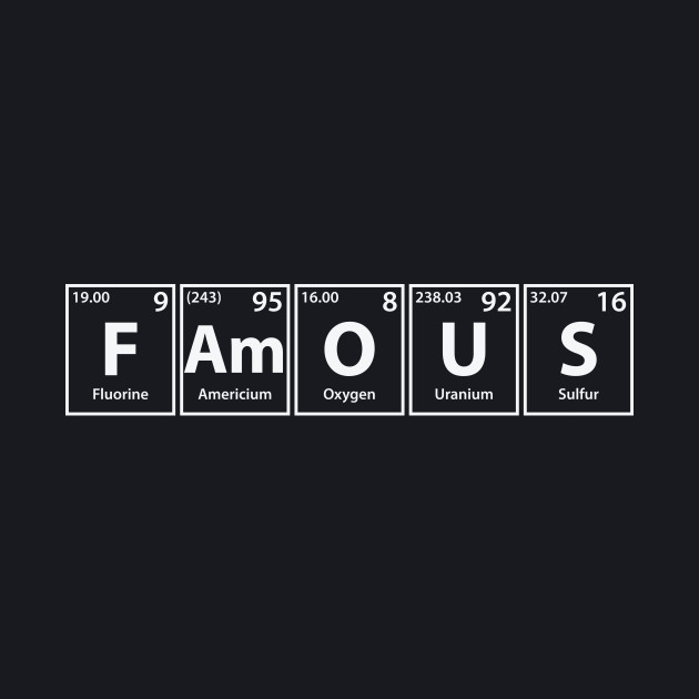 Famous (F-Am-O-U-S) Periodic Elements Spelling