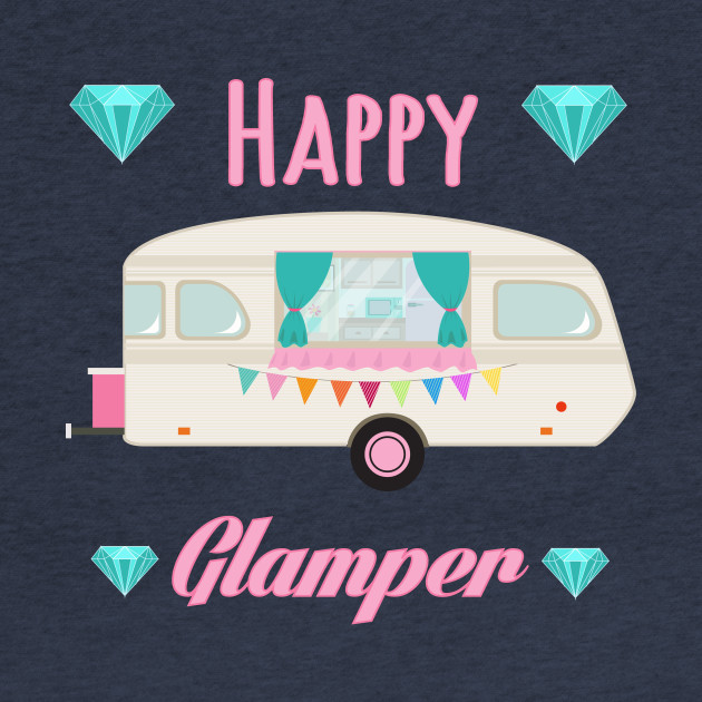 Happy Glamper - Pink Glam Camper Trailer RV Camping