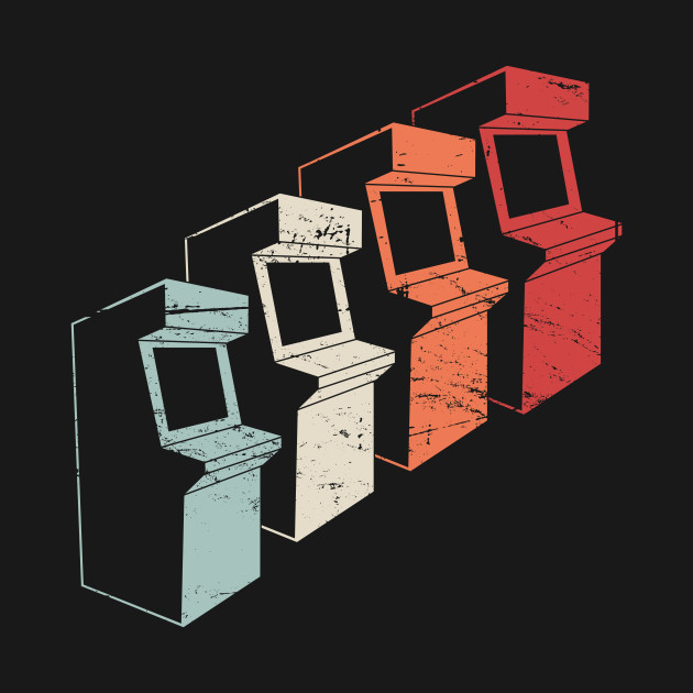 Vintage 80s Arcade Machines