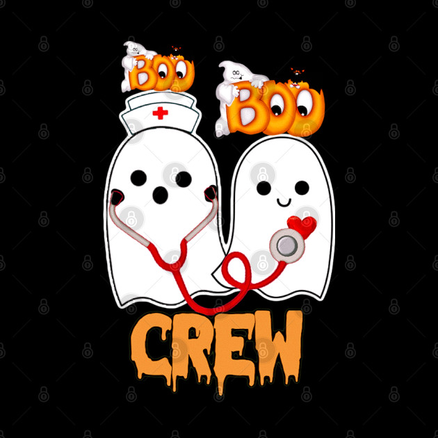 Nurses Halloween funny gift, boo boo crew ghost nurse