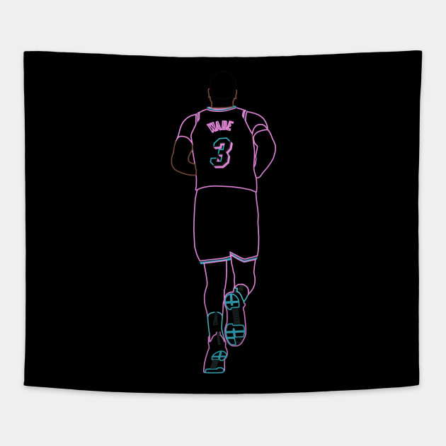 955e834c162 Dwyane Wade Miami Vice Neon - Dwyane Wade - Tapestry