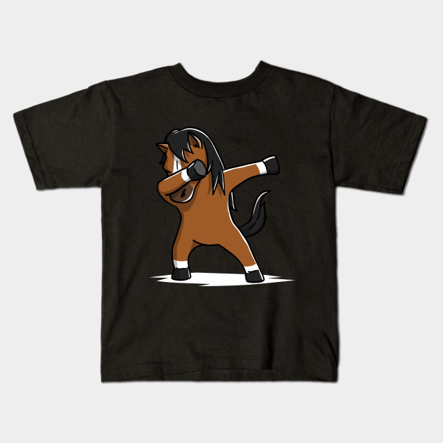 Cute Dabbing Horse T-Shirt Funny Pet Lover Gift
