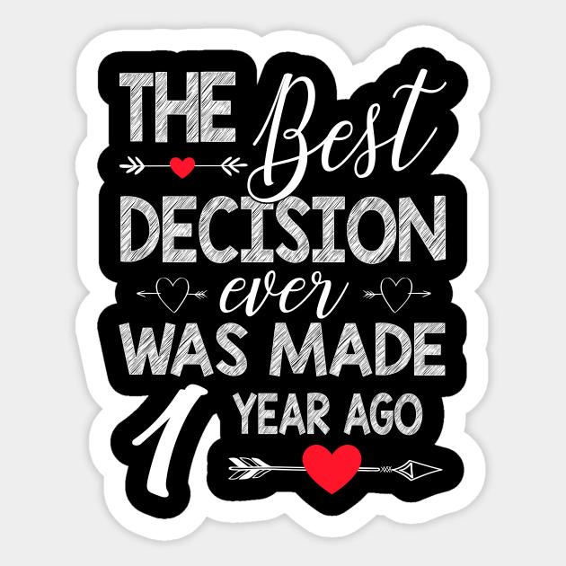 1st Wedding Anniversary Shirt For Couple Wedding Anniversary Gifts Sticker Teepublic Au
