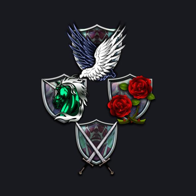 Attack on Titan Emblems