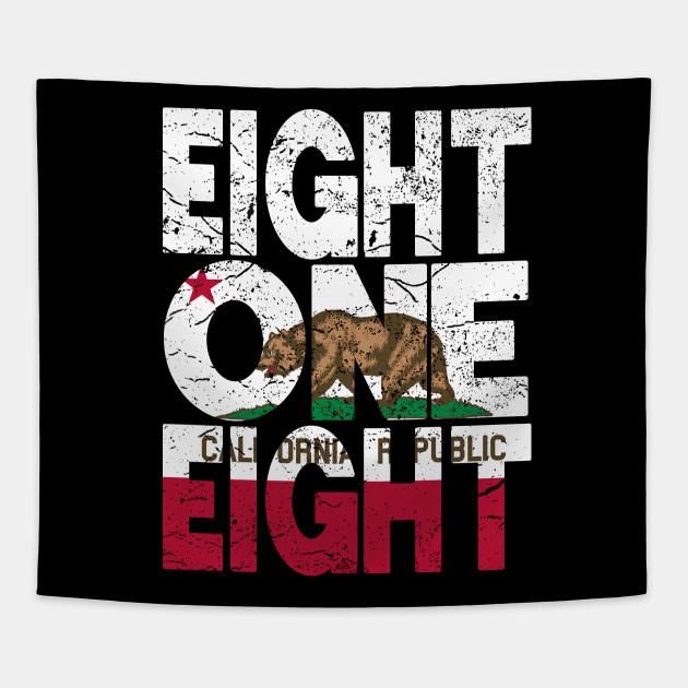 California Area Code 818 California Republic Flag