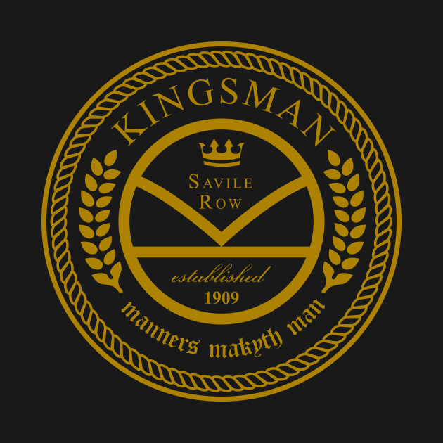 Kingsman The Tailors Black And Gold Kick Ass T Shirt
