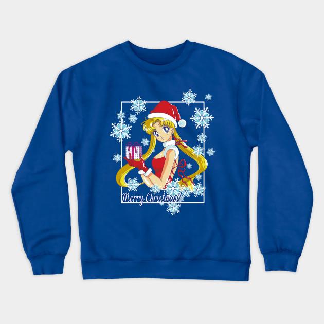 Sailor Moon Christmas Sweater.Merry Christmas Sailor Moon Blue Version