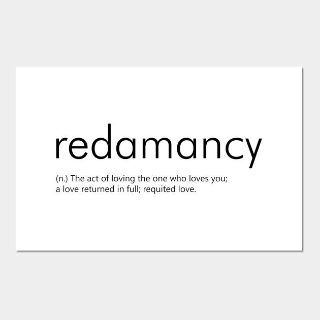 Redamancy Definition Redamancy Posters And Art Prints Teepublic
