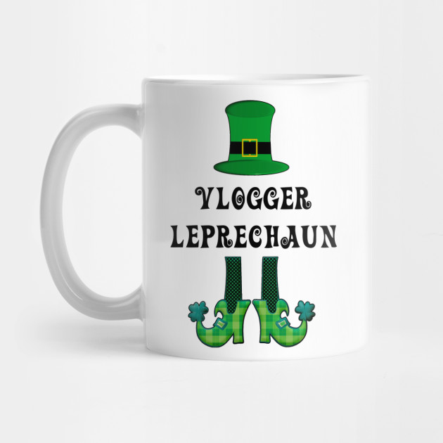 St Patrick's St Paddy's St Patty's Day Vlogger Leprechaun Mug