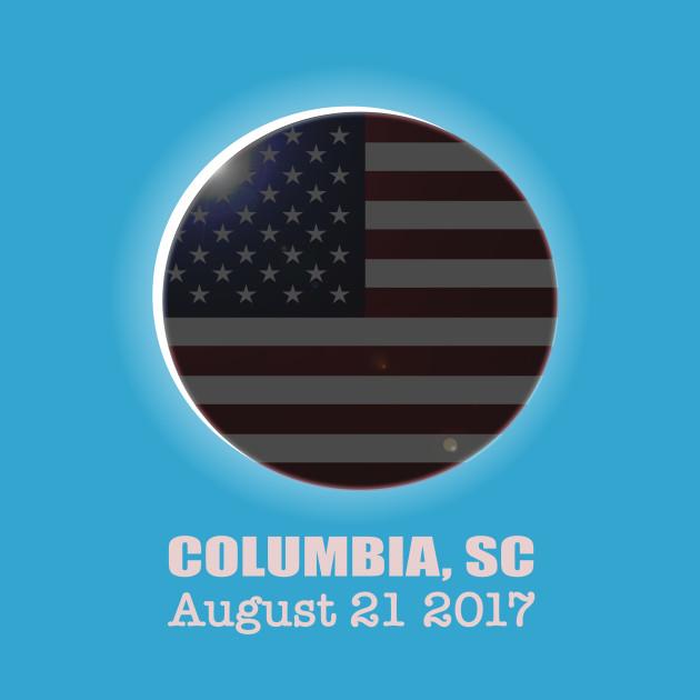 Solar Eclipse Shirt COLUMBIA SC USA Patriotisk amerikansk T-shirt  Patriotic American T Shirt