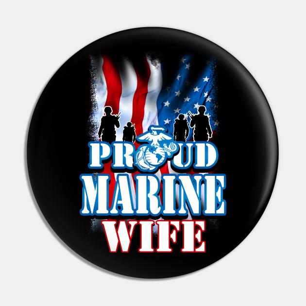 MARINE PIN PROUD WIFE OF A U.S