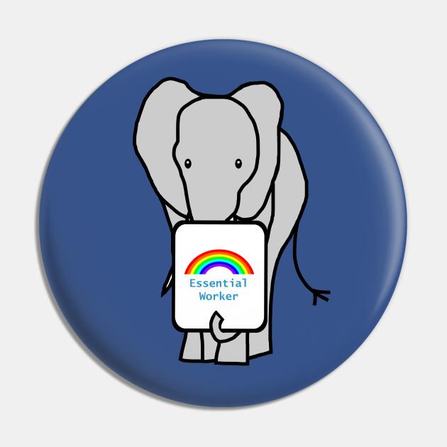 Elephant Worker Rainbow Essential Employee Meme