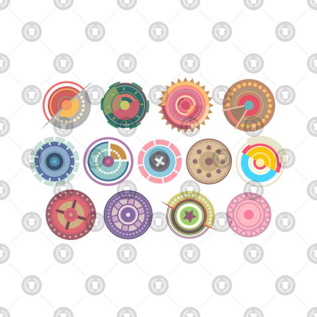 Colored pastel circles