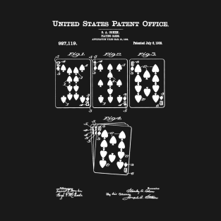 Playing Cards Patent White t-shirts