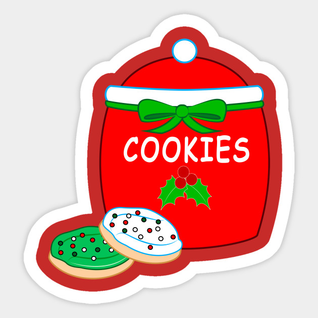 Christmas Cookie Jar With Frosted Cookies Christmas Cookies